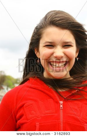 Teenager With Smile