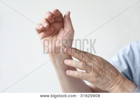 man with an aching wrist
