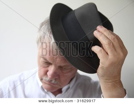 senior man with hat