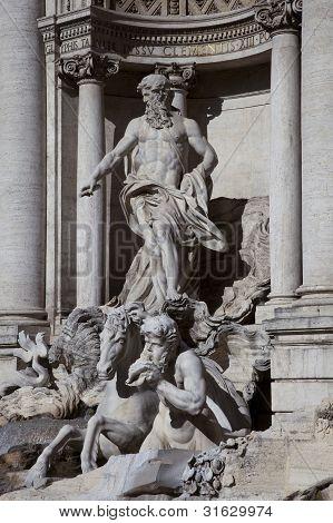 Trevi Fountain, Detail