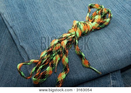 Jeans Fabric And Bright Band