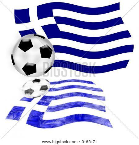 Football Flag Greece