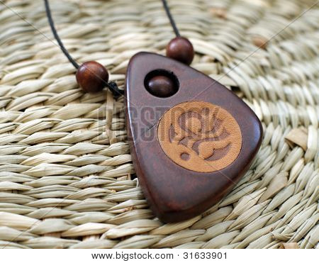 Wooden Chineese Amulet