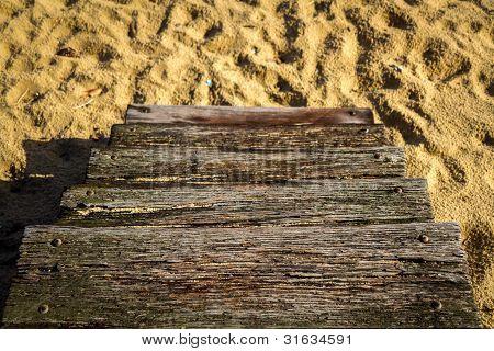 Wooden steps