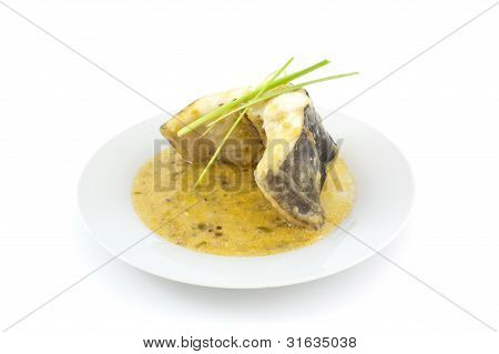 Conger With Leek Sauce