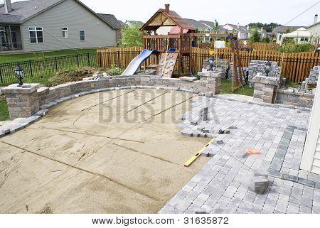 Pavimentação do pátio