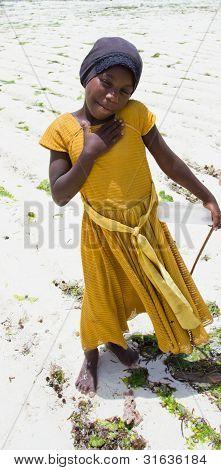 Young Girl on the Beach in Zanzibar