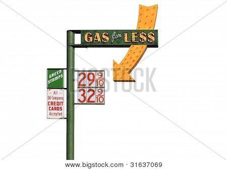 Gas For Less Sign