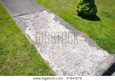 Damaged Concrete Walkway