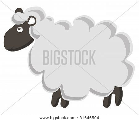 Cute  vector sheep
