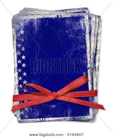 Celebration Card With Patriotic Symbols Of America