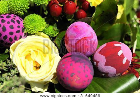 Some Decorated Easter Eggs