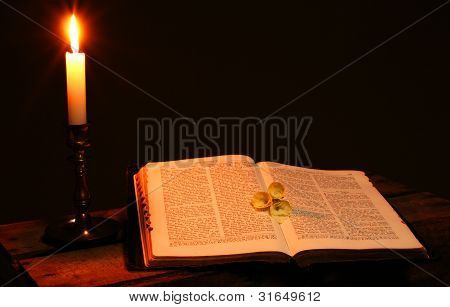 Bible Spiritual  Book Candle