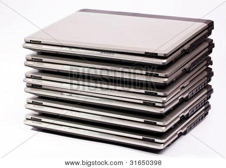 Portátil organizado pila