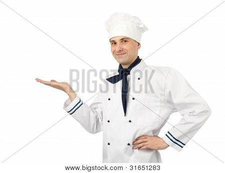 Male Chef Isolated Over White Background