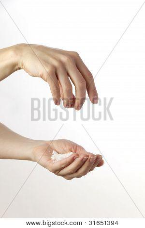 Female Hands Salt S.th.