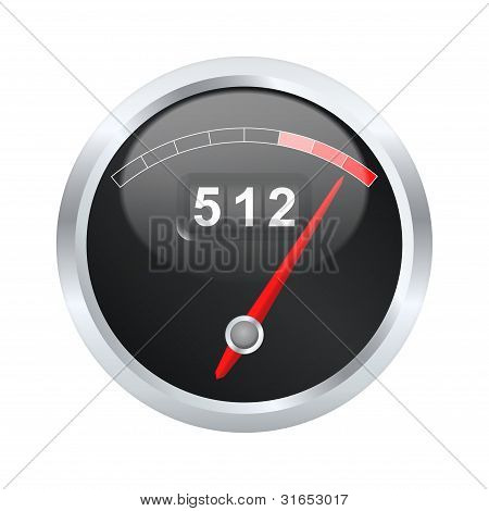 Traffic Measuring Device. Vector Illustration