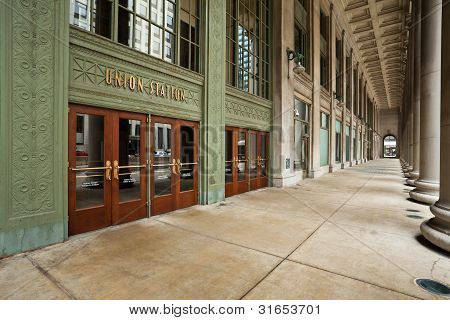 Chicago Union Station Entrance.