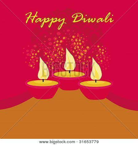 abstract diwali celebration background , vector illustration