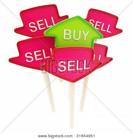 Buy plate in the middle of sell ones isolated