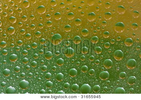 Close Up Of Water Drops Texture