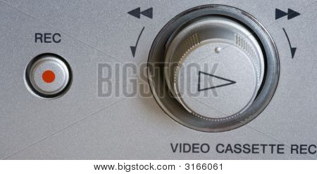 Video Cassette Player Knobs