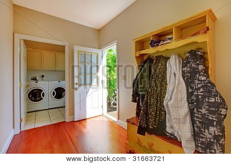 Laundry Room With Mud Room.
