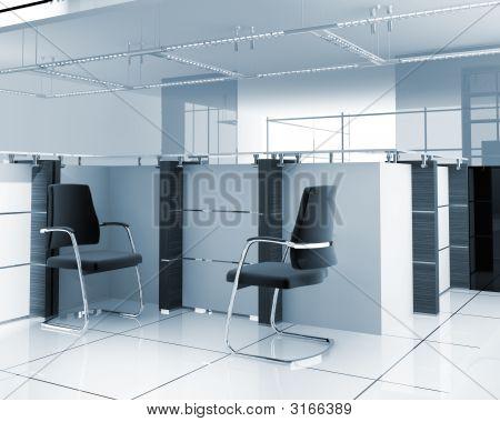 Interior de la oficina moderna