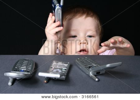 Child With Mobile Phones