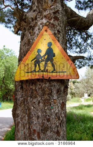 Rusty Warning Sign