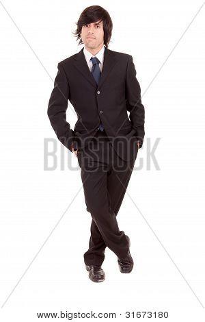 Young Business Man Posing