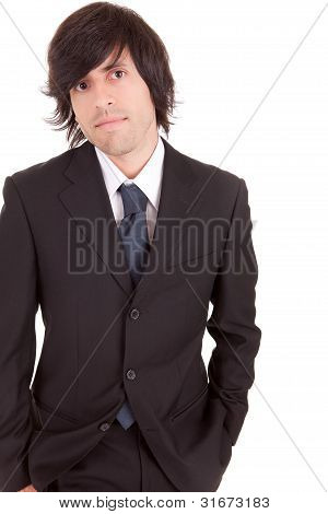 Young Business Man Posing