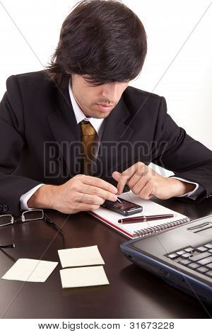 Young Business Man At Work