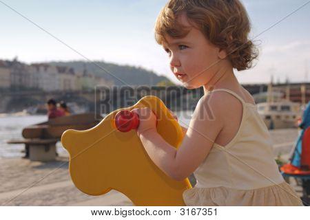 Playful Girl Rocking