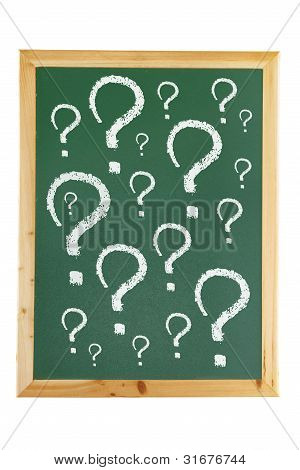 Blackboard With Question Marks