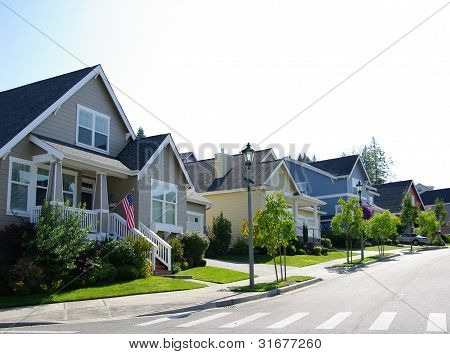 Colorful Neighborhood Homes