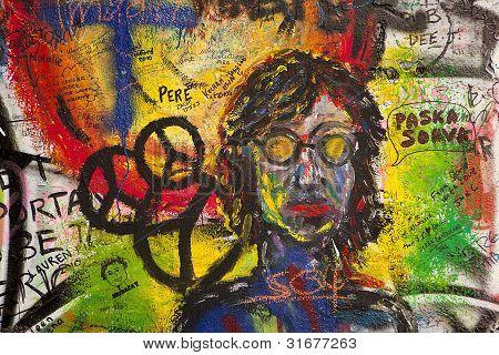 Graffiti On The Lennon Wall