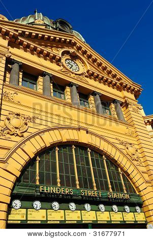Flinders Street Station In Downtown Melbourne