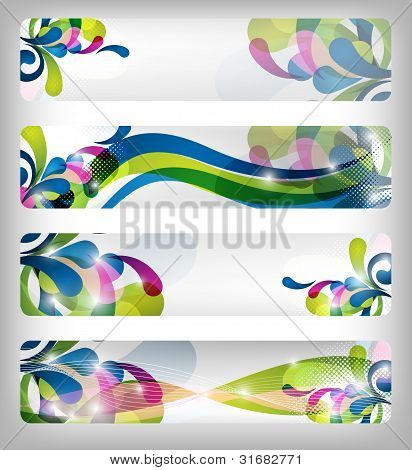 Abstract Colorful Banner / Designs