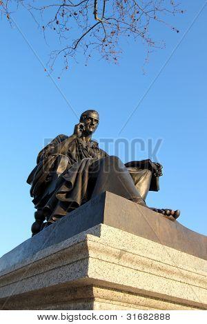 Statue Of Jean-jaques Rousseau, Geneva, Switzerland