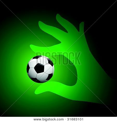 Vector Soccer Ball in Hand