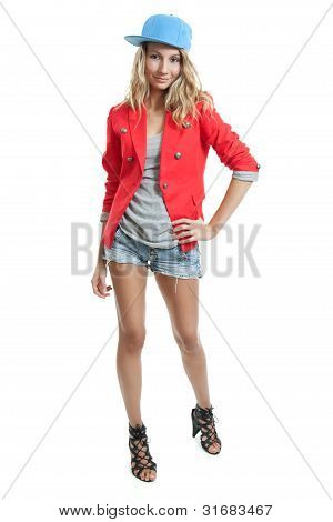 Young Trendy Woman With A Cap