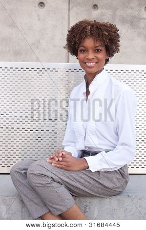 Pretty African American Executive