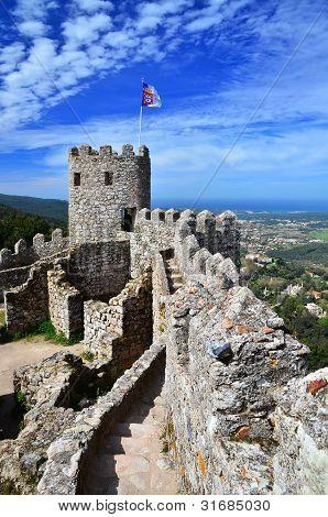 Castle Of The Moors, Sintra, Portugal Landmark