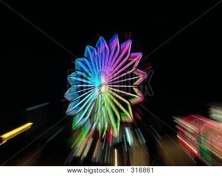 Ferris Wheel In Tokyo