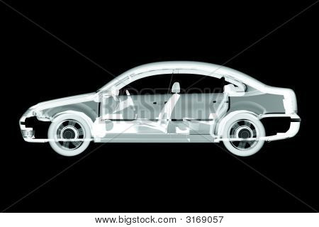 3D Car X-Ray Render