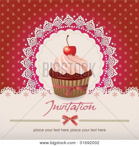 Grußkarte mit Cupcake 013