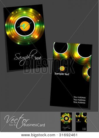 Professional business card set, template or visiting card set . Artistic, colorful abstract corporate look in dark and bright colors, EPS 10 Vector illustration.