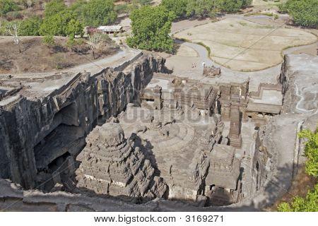 Hindu Rock Temple, Ellora Caves, India