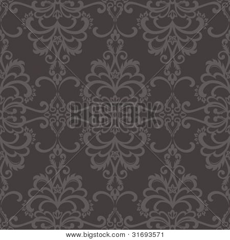 Damask seamless pattern. Vector illustration.